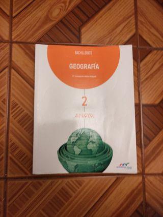 libro Geografía segundo bachillerato