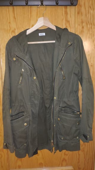 chaqueta verde militar