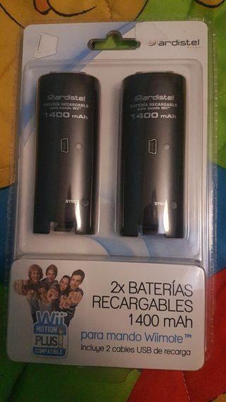 baterías nuevas para mandos Wii