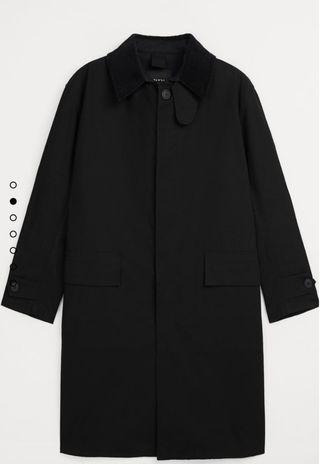 Gabardina oversize negra Zara