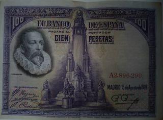 100 pesetas 1928