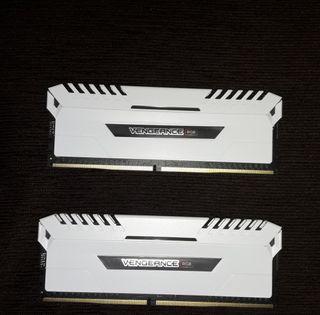 Kit Memoria Ram Corsair DDR4 3600 16 Gb RGB white