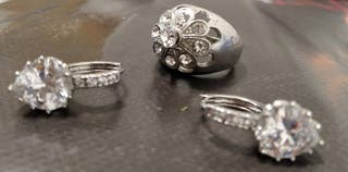 conjunto pendientes +anillo Golfi-alto
