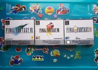 juegos Final Fantasy 7 8 y 9