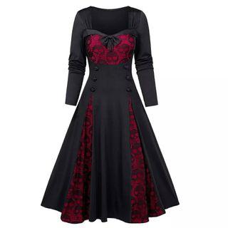 Vestido gótico medieval 4XL