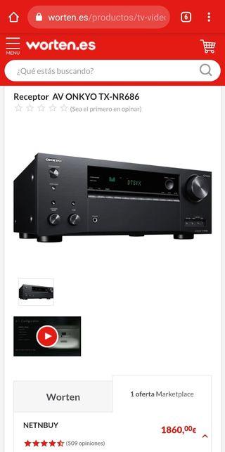 AVR ONKYO TX-NR686 AMPLIFICADOR RECEPTOR