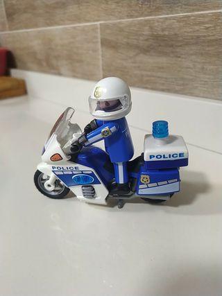 Playmobil moto policía