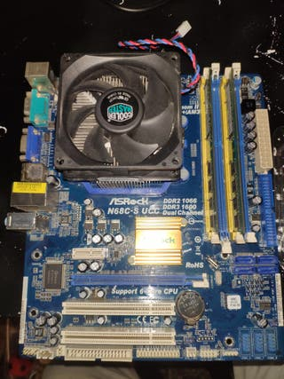Placa base am3 + amd phenom x4 y 2gb de ram ddr2.