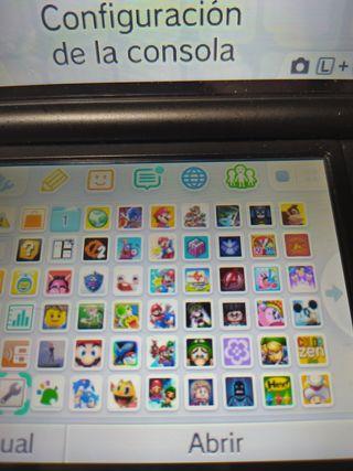 Nintendo 3DS XL con más de 45 juegs instalados