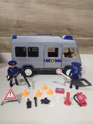 Playmobil furgoneta antidisturbios policia