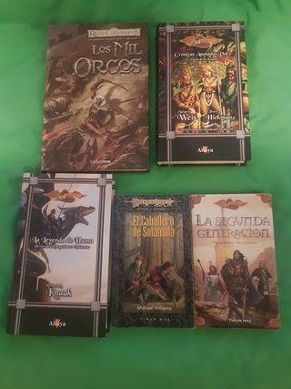Lote de libros reinos olvidados y dragonlance