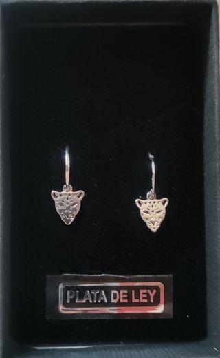aros leopardo plata 925