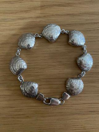 Pulsera plata 925 conchas