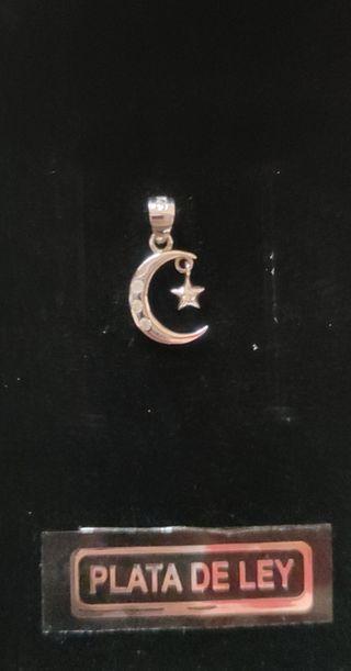 colgante plata Luna y estrella