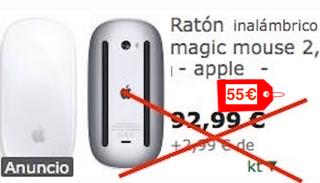 Raton Apple Magic Mouse 2 de batería