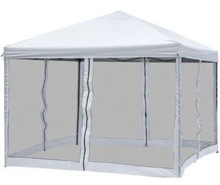 Carpa plegable 3x3m blanca mosquiteras NUEVA