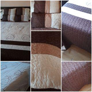 Colcha Bouti cama 150cm y 4 cojines