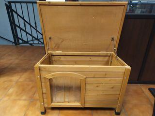 caseta madera perro pequeño/mediano