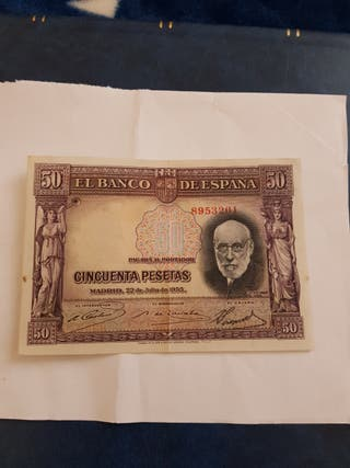 Billete de 50 pesetas