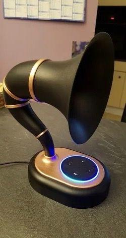 Soporte Alexa/Google Home Gramófono Retro