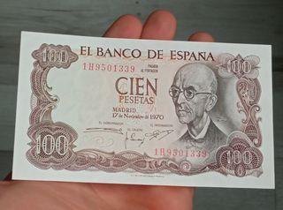 billete 100 pesetas de 1970 SC
