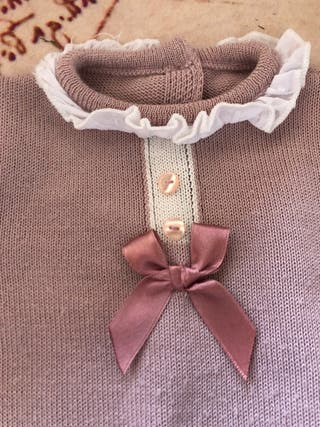 Trajecito bebe rosa 3 meses ideal primavera