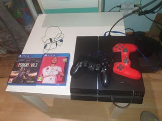PS4 SLIM 1TB + 2 MANDOS + RE3 REMAKE Y FIFA20