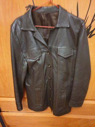 chaqueta de mujer de cuero auténtico