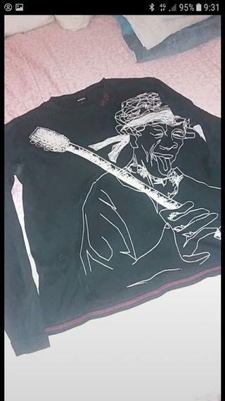 camiseta gruesa manga larga desigual talla XL