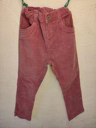 Pantalón de pana, bebé niña, talla 36 meses