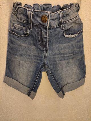 Pantalón vaquero corto, de bebé niña, 98 cm.