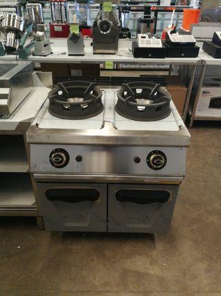 wok de 2 fuegos con mueble