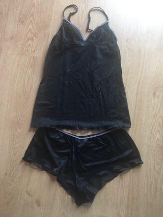 Conjunto de ropa interior en gasa transparente H&M