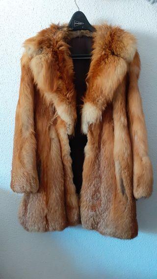 Abrigo piel natural de visón