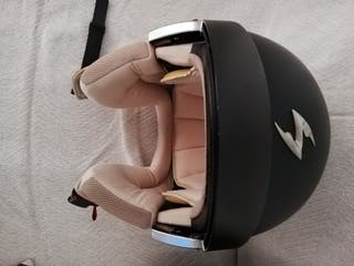 casco moto jet negro homologado