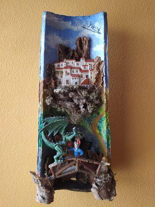 Teja decorada, Sant Jordi.