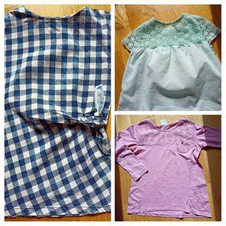Lote Vestido + Camiseta + Blusa