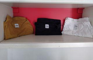 3 camisetas zara