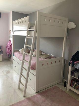 Litera 3 camas + cajones