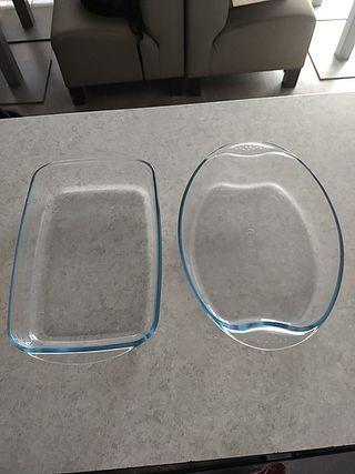 bandejas cristal