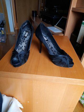 Zapatos fiesta. Tacones 11 cms