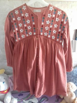vestido zara niña talla 10