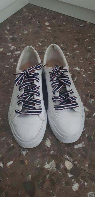 deportivas zapatillas blancas