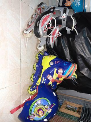 patines niños y 1 casco