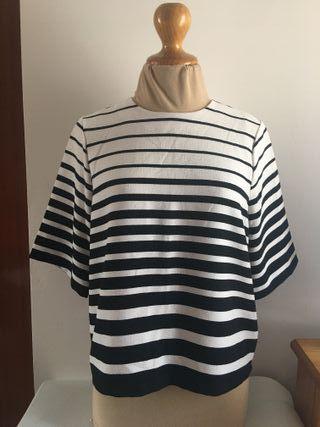 Camisa NUEVA rayas blanco Y negro Talla 40