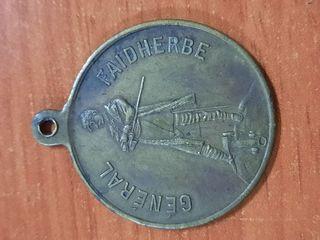 antigua medalla francesa de 1891 en bronce