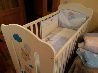 Pack Cuna Bebe y Mueble bañera bebe