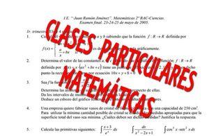 CLASES PARTICULARES DE MATEMÁTICAS DE SECUNDARIA