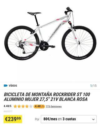 Bicicleta mujer/niña Rockrider