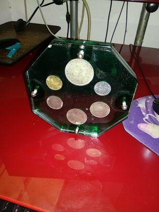 juego de monedas de pesetas de los mundiales